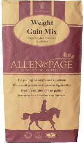 weight gain mix allen page horse