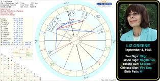 Liz Greenes Birth Chart Liz Greene Born 4 September 1946