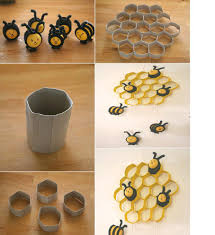 DIY Kinder Bees and Toilet Paper Roll Honeycomb DIY Projects