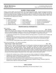 supply chain management resumes - Sample Logistics Manager Resume