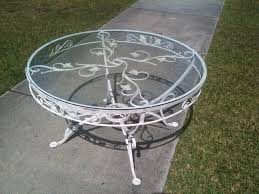 white iron outdoor furniture. Full Size Of Decoration Cast Iron Patio Furniture Wrought Dining Table Metal Outdoor White T