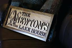 custom house signs wood personalized lake house sign wood plaque custom carved last name wooden signs custom house signs wood
