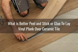 install vinyl plank over ceramic tile