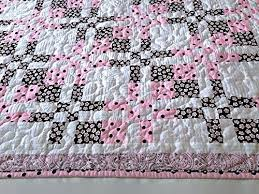 Amazon.com: Pink, Brown & White Baby Quilt, Toddler Quilt ... & Pink, Brown & White Baby Quilt, Toddler Quilt, Handmade Lap Quilt, Quilted Adamdwight.com