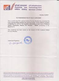 Leakseal India Certificates