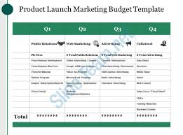 Marketing Budget Template Beauteous Product Launch Marketing Budget Template Ppt Images Template