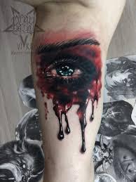 татуировка глаз на бицепсе сделать тату у мастера вики салон
