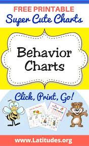 Free Printable Behavior Charts For Kids Behavior Charts