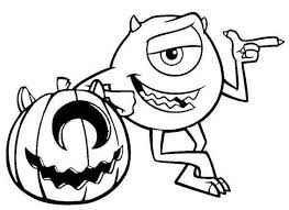 The Movie Monster Halloween Print Coloring Pages Free Printable