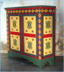 mexican painted furnitureSouthwest Cabinets Buffet Corner Jewelry Hutch Curio