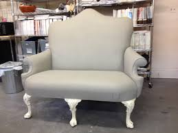 Yes, this sofa fabric is painted using French Linen Chalk Paint decorative  paint by