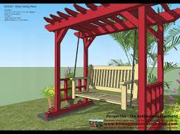 Small Picture SW100 Arbor Swing Plans Construction Garden Swing Plans