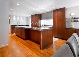 Floor To Ceiling Kitchen Cabinets Kitchen Modern With Accent Tile Floor O