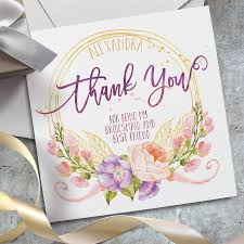 Thank You Cards Design Your Own Personalised Wedding Thank You Card By Lost Wonderland
