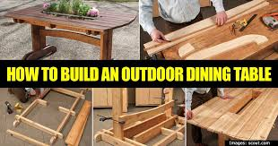 how to build a patio table beautiful how to build a simple outdoor table for dining