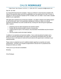 Cool Best Executive Assistant Cover Letter Examples Livecareer