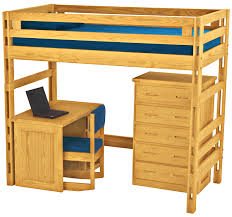 crate designs loft bed with student