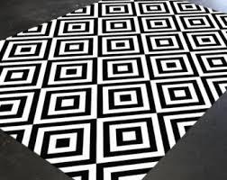 black and white geometric rug. black and white rug, geometric monochrome area rug 5x8, e