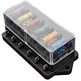 amazon com fuse boxes fuses accessories automotive blade fuse box sodial r 6 way fuse holder box car vehicle circuit blade fuse box block fuse us