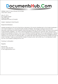 Assistant Teacher Cover Letter With No Experience