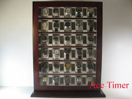 30 watch wooden stand wall display storage case fit up to 60mm detailed images