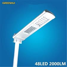 aluminium alloy integrated solar led street lights garden decoration lamps outdoor yard gate light pole
