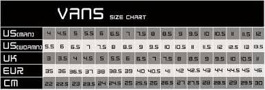 Vans Old Skool Size Chart Size Chart Vans Japan Bedowntowndaytona Com