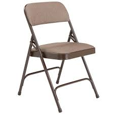 metal folding chairs with padded seats. Contemporary Metal Padded Folding Chair W Double Hinge  Walnut Fabric Brown Frame By  National Public Seating 2207  Stock 96010 Intended Metal Chairs With Seats S