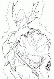 Small Picture Vegeta Coloring Pages