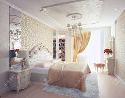 Modern Luxury Bedroom Modern Luxury Bedroom Interior 3d Rendering Stock Photo Picture