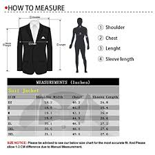 Blazer Sleeve Length Chart Ween Charm Mens Slim Fit Tuxedo Blazer Jacket One Button Peak Lapel Solid Separate Tux Suit Jacket