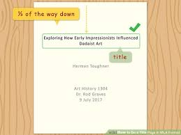 How To Do A Title Page In Mla Format With Examples Wikihow