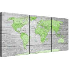 >large lime green grey world map atlas canvas wall art print multi  oversized green grey large lime green grey world map atlas canvas wall art print maps canvas display gallery item 1