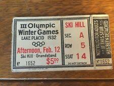 Olympic Arena Lake Placid Seating Chart Ticket Stubs In Player 21 Sport Olympics Ebay
