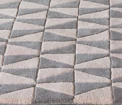 geometric geo05 modern rugs in pink grey