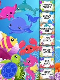 Behavior Chart Under The Sea Behavior Clip Chart Beach Ocean Animals