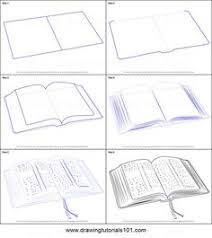 how to draw an open book step by step printable drawing sheet to print learn how to draw an open book