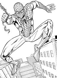 Small Picture Coloring Download Spectacular Spiderman Coloring Pages