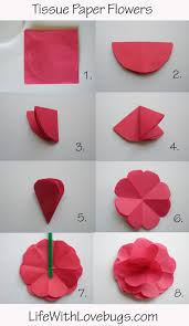 How To Make A Flower Paper Tissue Papper Carnation Flowers Tissue Paper Flowers
