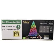 App Controlled Christmas Tree Lights Twinkly Pre Lit 7 5 Vermont Spruce Artificial Christmas