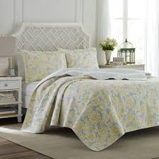 Buy Yellow King Quilt Sets from Bed Bath & Beyond & Laura Ashley® Joy King Quilt Set in Grey/Yellow Adamdwight.com