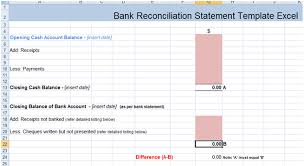 excel reconciliation template bank reconciliation statement excel template xls excel project