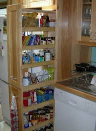 rolling pantry shelves narrow pull out storage