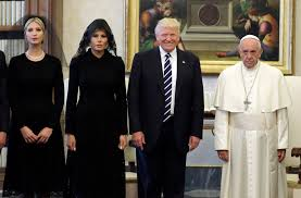 Image result for trump images with Pope