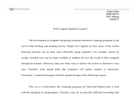 will computers replace teachers gcse english marked by document image preview