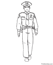 Small Picture Police Officer Coloring Page In Full Uniform
