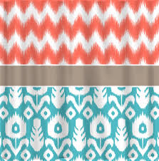 coral colored shower curtain. custom ikat chevron shower curtain any color shown by coral colored ,