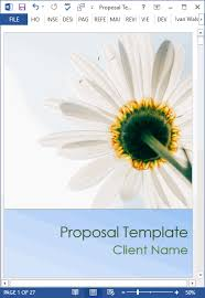 Proposal Templates (10 X Ms Word Designs + 2 X Excel Spreadsheets ...