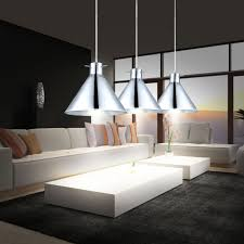 set of 3 pendant lamps dining room kitchens spotlights smoke glass hanging lamps