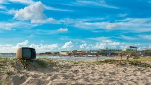 television on beach at cabo polonio uruguay overland travel  television on beach at cabo polonio uruguay